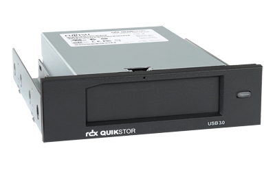 FUJITSU BTO RDX Drive mit 500GB Kassette 13,3 5,25 Zoll USB 3.0 100MB/s mit USB 3.0 A auf B Kabel 4,1cm 1,6 Zoll Einbauhoehe schwarz