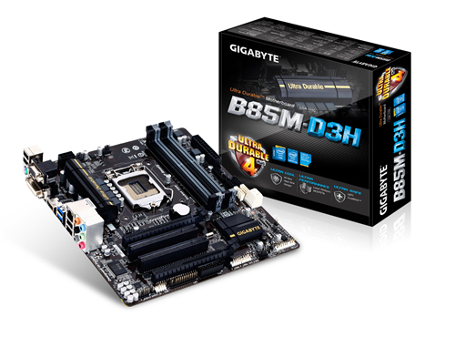 GIGABYTE B85M-D3H Socket1150 B85 4xDDR3 PCI-E USB3 HDMI DVI RGB mATX