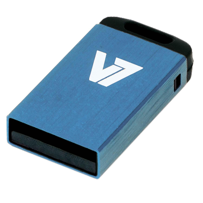 V7 Nano USB 2.0 Flash Drive 16GB blau