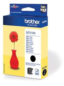 BROTHER LC121BK Tinte schwarz 300Seiten fuer DCP-J752DW,MFC-J470DW,-J870DW