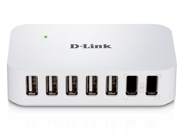 D-Link DUB-H7 - 7-Port Hi-speed USB 2.0 Hub