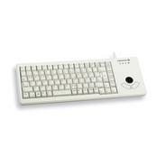 Tas CHERRY G84-5400 XS Trackball Keyboard hellgrau dt. USB