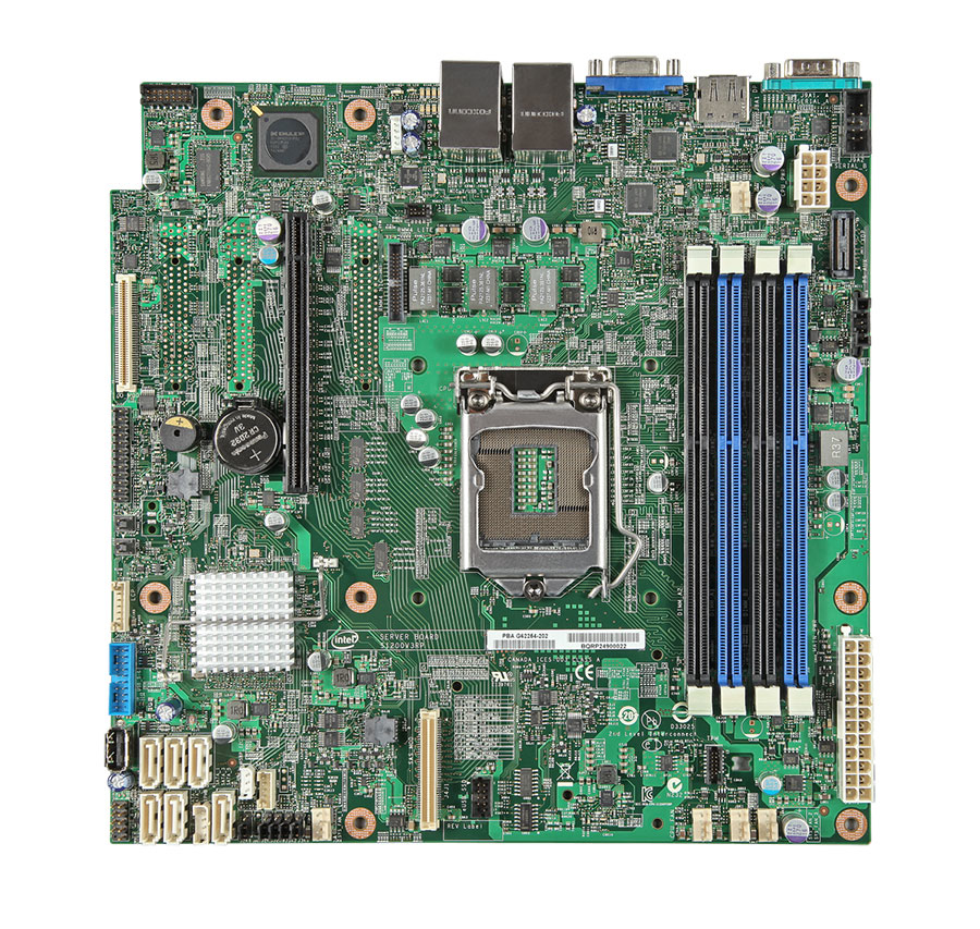 INTEL Server Board DBS1200V3RPM w 4x SATA Cables 1x Server Deployment+Management DVD 1x attention document without I/O