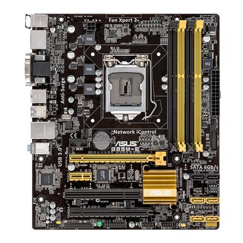 ASUS Mainboard B85M-E LGA1150 4x DDR3 Max 32GB PCI-E D-Sub DVI HDMI DisplayPort mATX