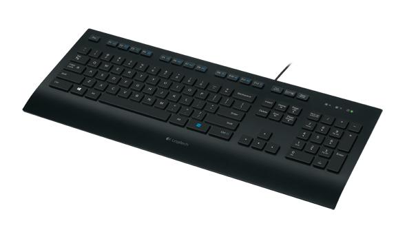 LOGITECH K280e corded Keyboard USB black for Business (DE)