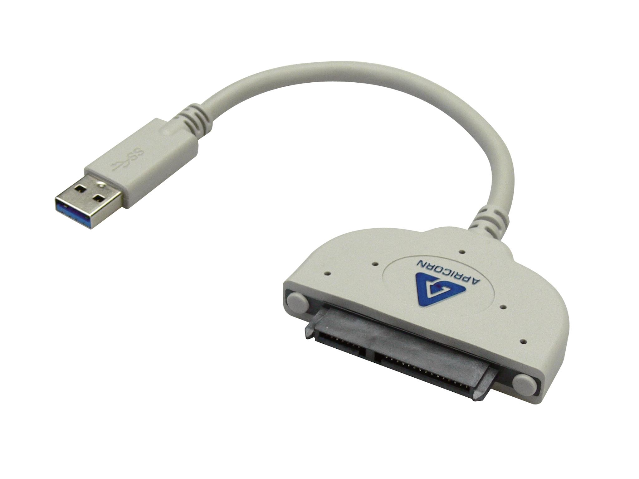 SANDBERG USB 3.0 Hard Disk Clone Cable USB 3.0 zu SATA 2.5Zoll HDD oder SSD direkt Verbindung Apricorn Klonsoftware inkludiert