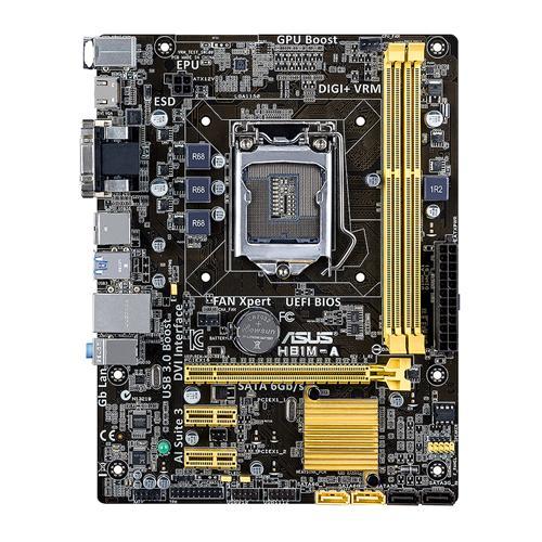 ASUS H81M-A LGA1150 2x DDR3 max 16GB HDMI DVI mATX