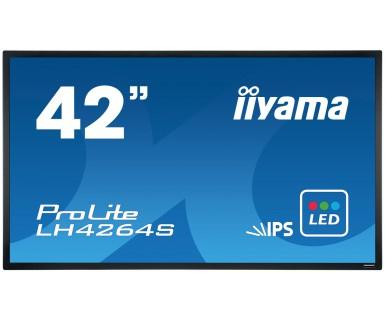 IIYAMA ProLite LH4264S 106,5cm 42Zoll IPS LED 9ms VGA DVI HDMI DisplayP Svideo RS232 400cd/m  Schwarz