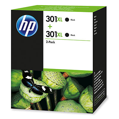 Inktpatroon HP 301XL 2-pack Black
