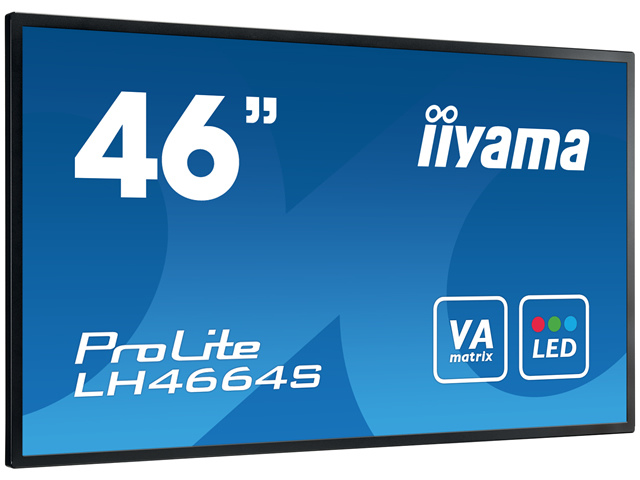 IIYAMA ProLite LH4664S 116cm 46Zoll IPS LED 9ms VGA DVI HDMI DisplayP Svideo RS232 400cd/m  black