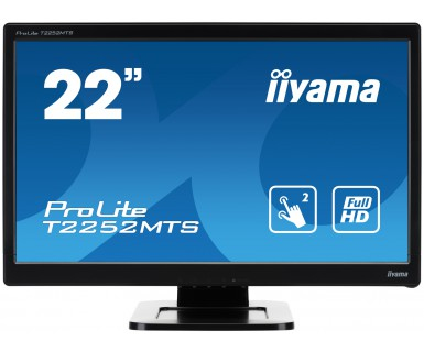 IIYAMA ProLite T2252MTS-B3 54,7cm 21,5Zoll LED FullHD 2Punkt Touch optisch VGA DVI HDMI USB(touch) Lautsprecher Schwarz
