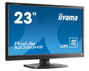 IIYAMA Prolite X2380HS-B1 58,4cm 23Zoll LED IPS FullHD 5ms VGA DVI HDMI 250 cd/m  Lautsprecher schwarz