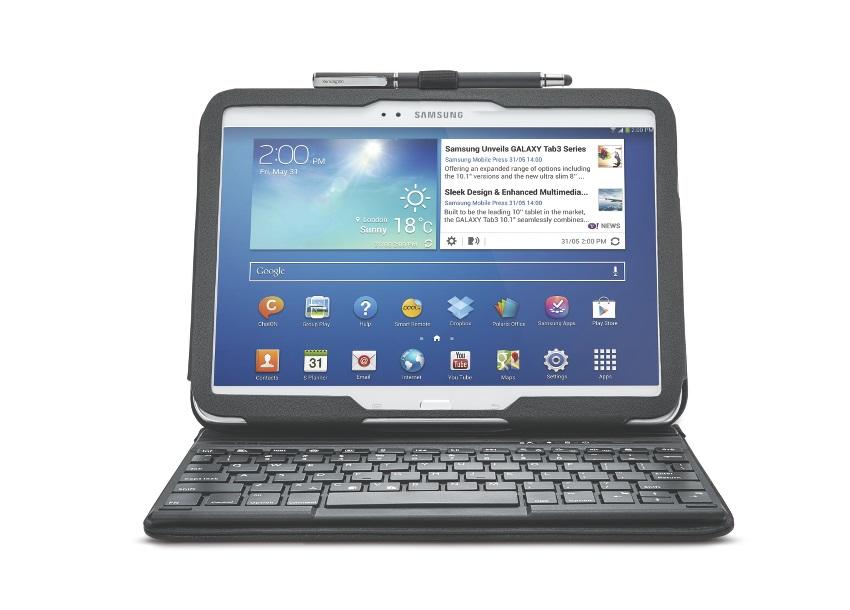 KENSINGTON KeyFolio Pro Samsung TAB 10.1 3 Bluethooth Tastatur mit Schutzh�lle,Tasche