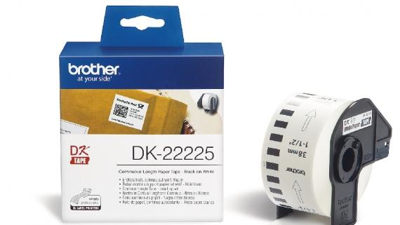 BROTHER P-Touch DK-Continue Lengte Tape: 38mm - Thermisch Papier - wit 30.48m