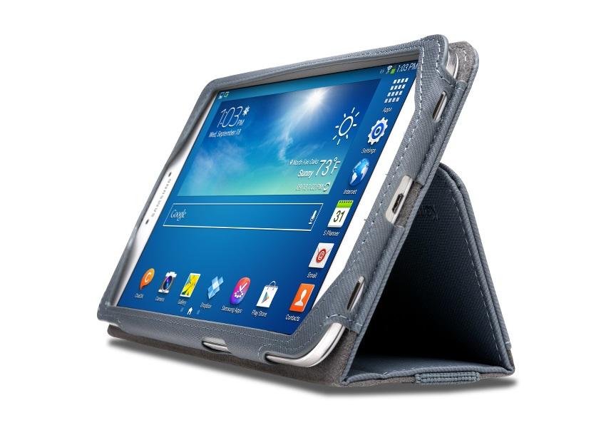 KENSINGTON Portafolio Tasche für Samsung Tab 3 8.0 Schiefer Grau
