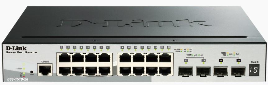 D-LINK 20-Port Smart Managed Gigabit Stack Switch