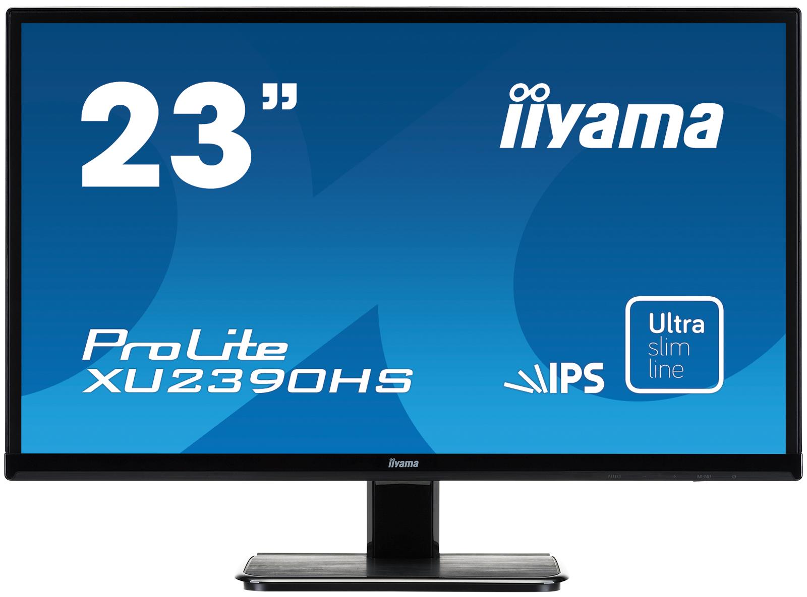 IIYAMA Prolite XU2390HS-B1 58,4cm 23Zoll IPS LED 1920x1080 250cd/m  5ms Speaker 2x2W VGA DVI HDMI