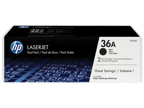 Toner HP LJP1505      black       CB436AD 2x2000 Seiten