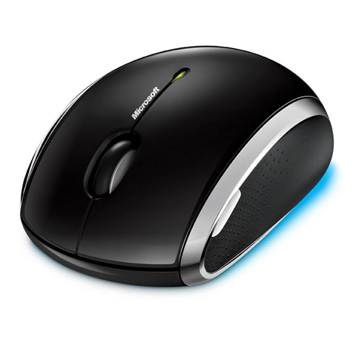 PC, Microsoft Wireless Mobile Mouse 6000 BlueTrack (USB) Black / Silver