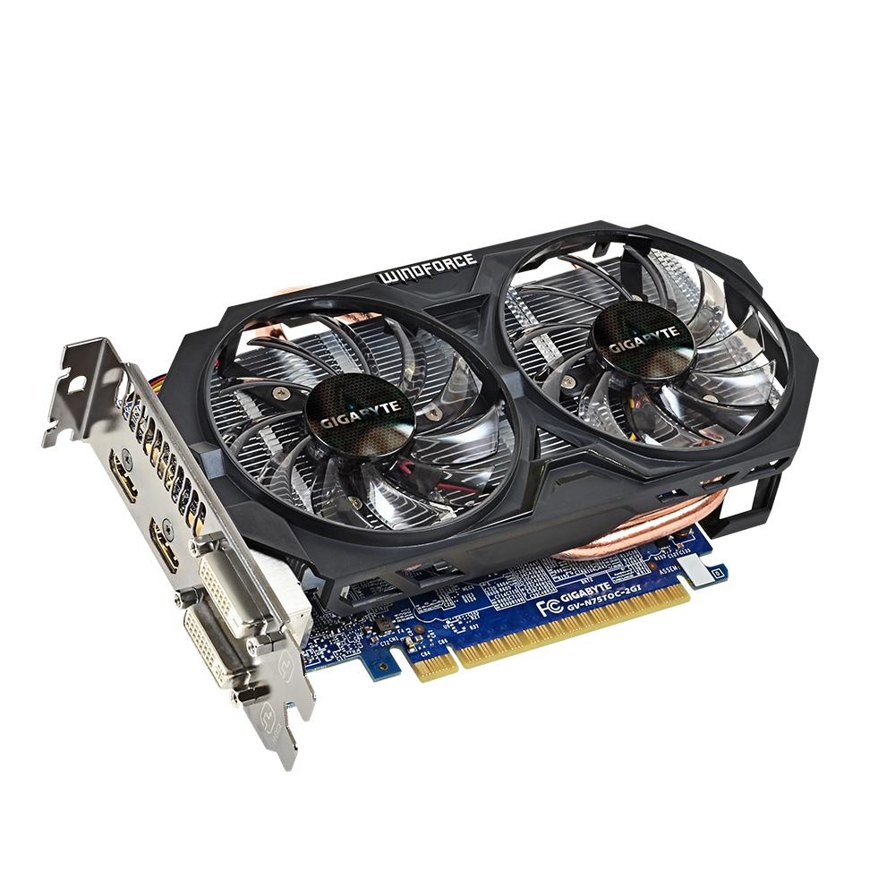 GIGABYTE GeForce GTX 750 TI OC Version 2048MB GDDR5 128bit PCI-E 3.0 HDMI DVI-I/-D HDCP aktiv