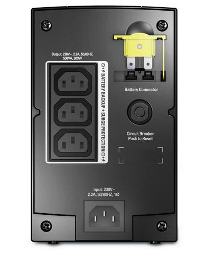 APC Back-UPS 300W/500VA 230V  AVR  (3) IEC 320 C13