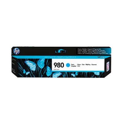 HP 980A Original Tinte cyan Standardkapazit�t 86.5ml 6.600 Seiten 1er-Pack Office jet Enterprise