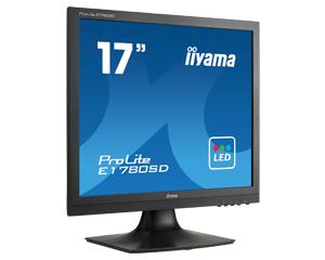 IIYAMA Prolite E1780SD-B1 43cm 17Zoll 5000000:1 ACR 5ms DVI 250cd/m  Lautsprecher 2x1W schwarz