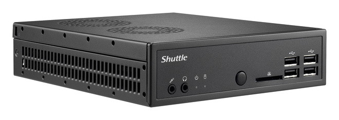 SHUTTLE Barebone XPC slim DS81 Sockel 1150 Core i7/i5/i3 2X DDR3 1600 1XSATA/SSD Chip H81 4in1-CR HDMI 2XDP USB2/3 2xRJ45 schwarz