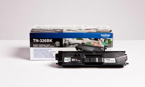 BROTHER TN-326BK Toner schwarz hohe Kapazit�t 4.000 Seiten 1er-Pack