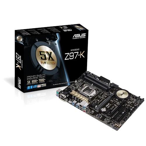 ASUS Z97-K LGA1150 Intel Z97 4x DDR3 max 32GB PCI-E HDMI D-Sub DVI ATX
