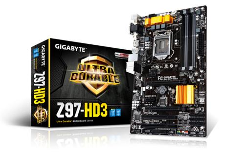 GIGABYTE GA-Z97-HD3 Socket 1150 Intel Z97 4x DDR3 max 32GB D-Sub DVI-D HDMI PCI-E ATX