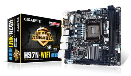 GIGABYTE GA-H97N-WIFI Socket 1150 Intel H97 2x DDR3 max 16GB 2x HDMI DVI-I PCI-E miniITX