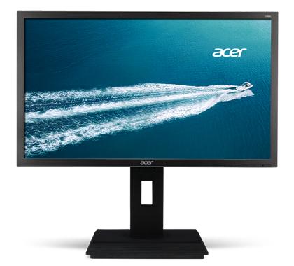 ACER B246HYLAymdpr 60,5cm 23,8Zoll TFT LED Backlight dual DisplayPort 6ms 250cd/m  hoehenverstellbar Pivot Lautsprecher dunkelgrau