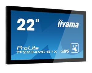IIYAMA ProLite TF2234MC-B1X 21,5cm 22Zoll 10Punkt Touch kapazitiv FullHD1920x1080 openFrame ohne Fuss 8ms 225cd/m VGA DVI USB(touch)