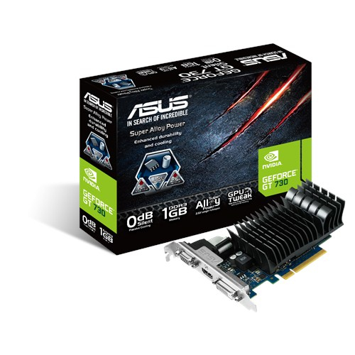 ASUS GeForce GT 730 1024MB DDR3 64bit PCI-E 2.0 HDMI Dual Link DVI-D aktiv