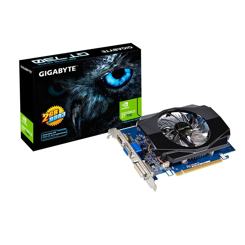 GIGABYTE GeForce GT 730 2GB DDR3 D-Sub DVI-D HDMI PCI-E aktiv