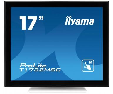 IIYAMA ProLite T1732MSC-W1X 43cm 17Zoll kapazitives 10 Punkt Touch Display 1280x1024 5ms 225cd/m  Schutzglas VGA DVI weiss