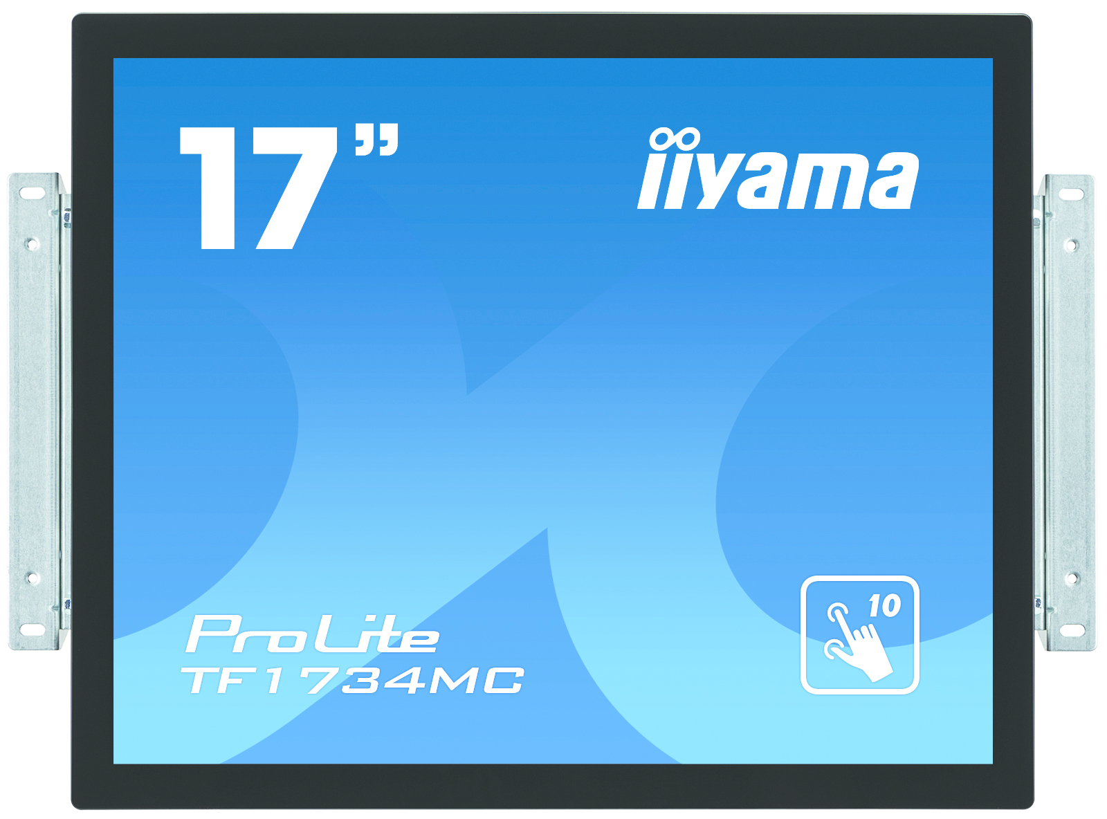 IIYAMA ProLite TF1734MC-B1X 43cm 17Zoll 10Punkt Multitouch Kapazitiv 5ms VGA DVI USB 225cd/m  schwarz ProtectionGlas