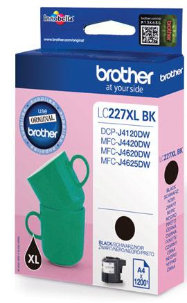 BROTHER LC-227XL Tinte schwarz hohe Kapazität 1200 Seiten 1er-Pack