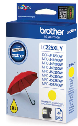 BROTHER LC-225XL Tinte gelb hohe Kapazit�t 1200 Seiten 1er-Pack
