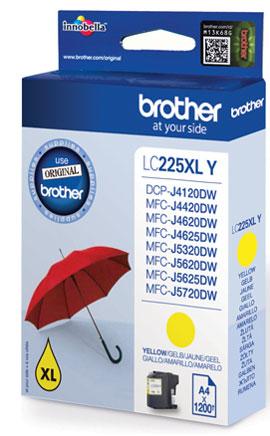 BROTHER LC-225XL Tinte gelb hohe Kapazität 1200 Seiten 1er-Pack