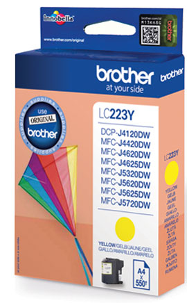 Brother LC-223Y Cartridge Geel