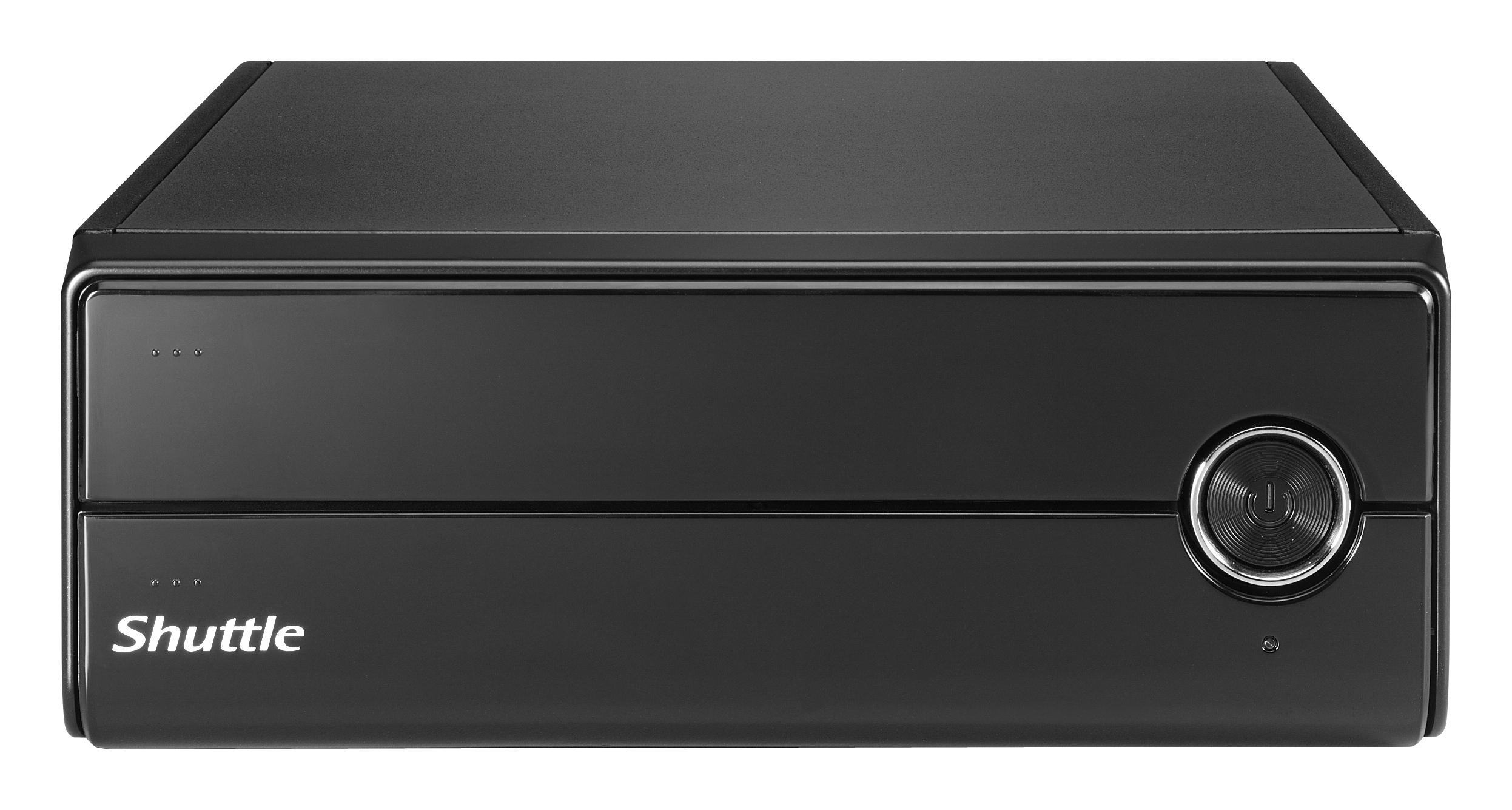 SHUTTLE Barebone XPC slim XH81V Sockel LGA 1150 Haswell  2XDDR3 3XSATA Intel H81 Heatpipe HDMI/DP schwarz