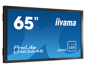 IIYAMA ProLite LH6564S-B1 164cm 65Zoll LED Backlight Full HD 450cd/m  8ms 4000:1 DVI HDMI Display Port Lautsprecher