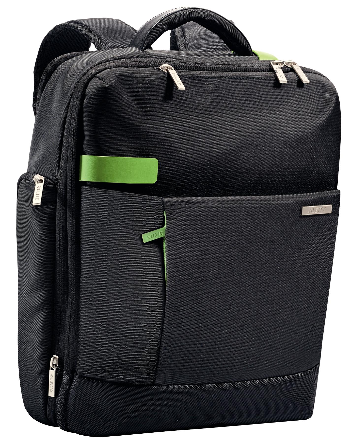 LEITZ Complete 39,6cm 15.6Zoll Rucksack Smart Traveller. Erweiterbar mit ausreichend Platz fuer alle Mobilgeraete. A4 Dokumente und
