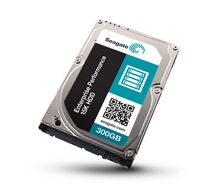 SEAGATE Enterprise Performance TurboBoost 15K 300GB HDD 512Emulation 15000rpm 12Gb/s SAS 128MB 6,4cm 2,5Zoll BLK