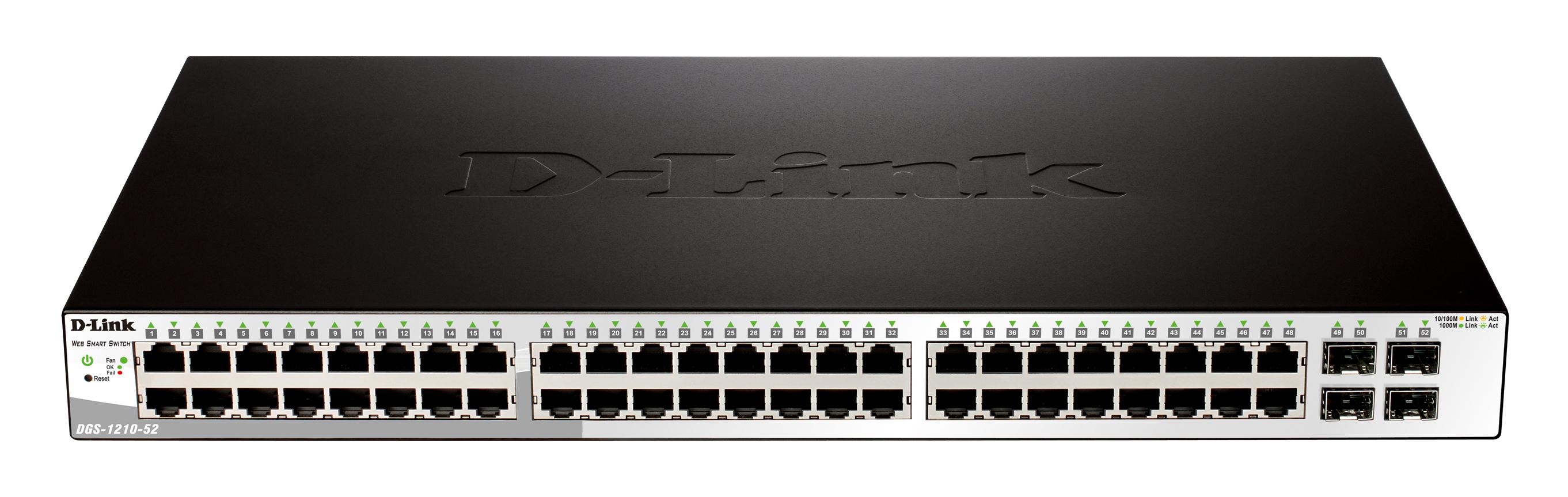 D-LINK 52-Port PoE Gigabit Smart Switch 24 PoE ports