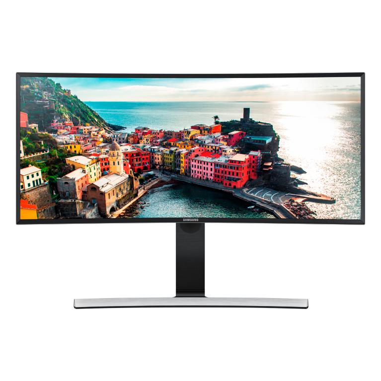 SAMSUNG S34E790C 86,36cm 34 Zoll 21:9 Curved 3440x1440 Ultra WQHD-VA 4ms Height adj 100mm VESA HDMI 1.4x2 DP 1.2 USB3x4 Speakers