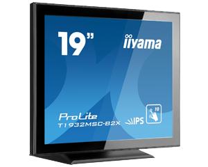 IIYAMA ProLite T1932MSC-B2X 48cm 19Zoll 10Punkt Multitouch Kapazitiv 14ms VGA DVI 225cd/m  Lautsprecher schwarz