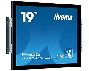 IIYAMA ProLite TF1934MC-B2X 48cm 19Zoll 10Punkt Multitouch Kapazitiv open frame IPS 14ms VGA DVI 225cd/m  schwarz 7H ProtectionGlas